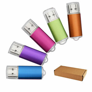 10 Pack 1GB Rectangle USB 2.0 Flash Drive Thumb Pen Drive Storage Memory Stick