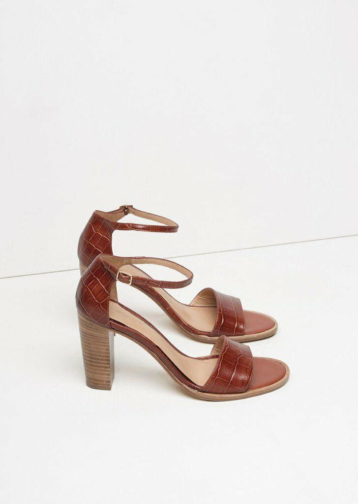 A.P.C. APC Clea Block Heel Sandals Pumps Sz 37  550