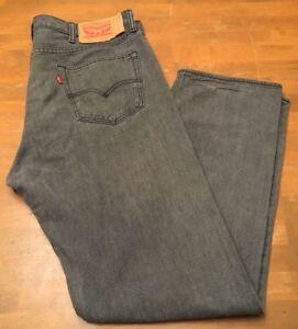 Levis 501xx Button-Fly jeans 38 X 32 EUC! Nice! Washed Grey denim Jeans