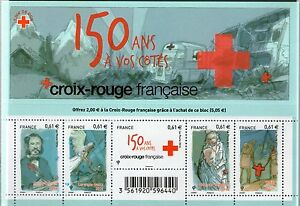 FEUILLET-F4910-NEUF-XX-TIMBRES-4910-4914-150-ANS-CROIX-ROUGE-HENRY-DUNANT