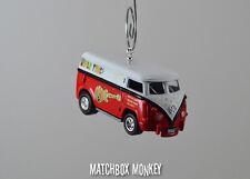 The Monkees Tour 1:64 Volkswagen Samba Bus Van Kombi VW T2 Christmas Ornament
