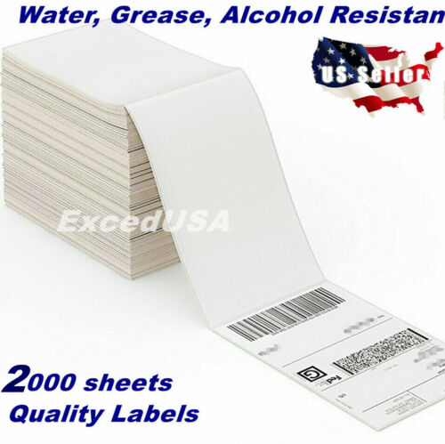2000 Sheets-4x6 Direct Thermal Shipping Label Zebra 2844 Mailing Tags Amazon FBA