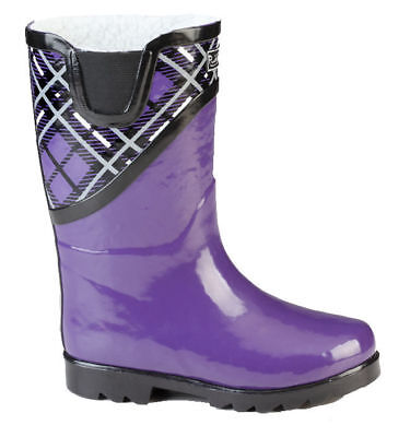 NEW Puddletons Youth Kids Packable Rain Boots Pink Hearts 159C tz