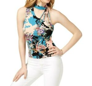 Guess-Womens-Mick-One-Shoulder-Choker-Top-Size-Large
