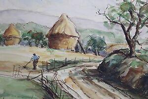Enthousiaste Paul Feron (xxe S) Paysage Villiers Adam Oise Val D'oise French Landscape Listed
