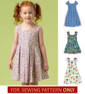 7f64de80fa5 SALE! SEWING PATTERN! MAKE GIRL SUMMER DRESS~SUNDRESS! SIZE 3~5 OR 6 ...