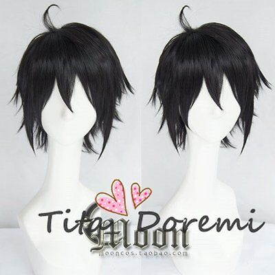 Halloween Wig Cosplay Seraph of the end Yuichiro Hyakuya black fashion Hair