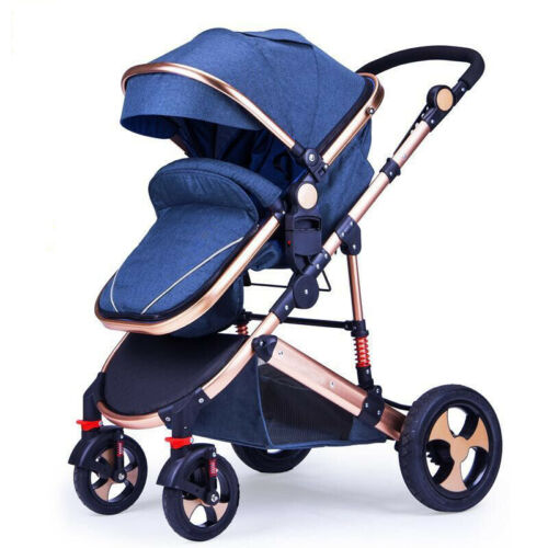 Strong Wheels with Safe Carrying Pos YulDek Modern High View Baby Pram Stroller