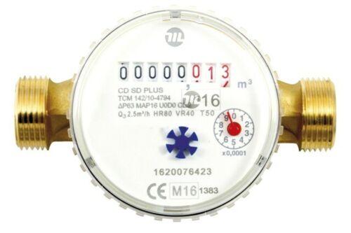 "Wasserzähler Kalt DN 20 Wasseruhr 3//4/"" AG Q3-2,5m³//h NEU"