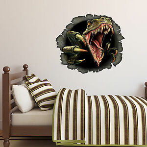 Jurassic World Dino TREX Dinosaurs Kids Boy Bedroom Vinyl Decal - Jurassic world wall decals