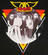AEROSMITH T-shirt Triangle Circle Photo Vintage Hard Rock Tee Adult MEDIUM New