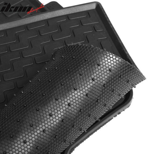 Fits 08-12 Honda Accord Sedan Latex All Weather Floor Mat Carpet Black 5PC Set