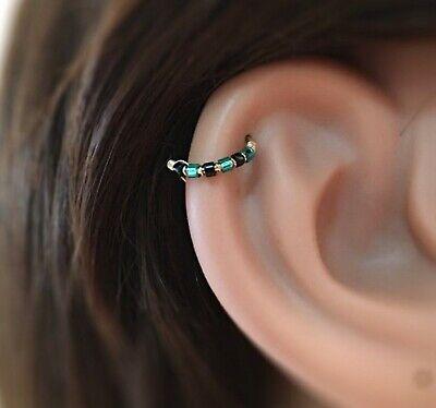Nose Ring 9K Gold Helix Earring Cartilage Septum Tragus Daith Ring Rook Snug