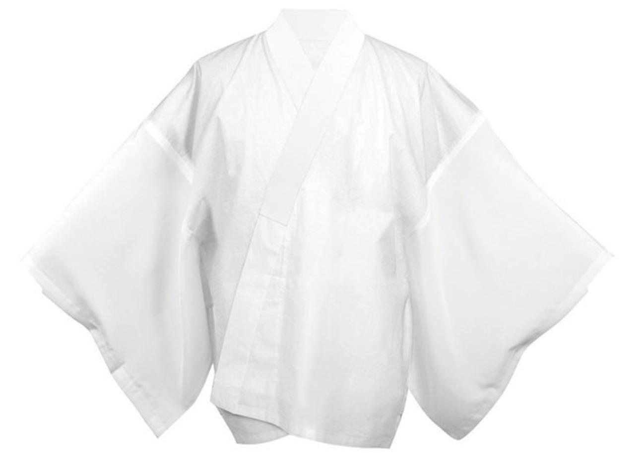 Japanese Men's Traditional Kimono inner under wear Han Juban White JAPAN