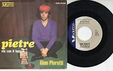 GIAN PIERETTI disco 45 giri MADE in ITALY 1967 SANREMO Pietre