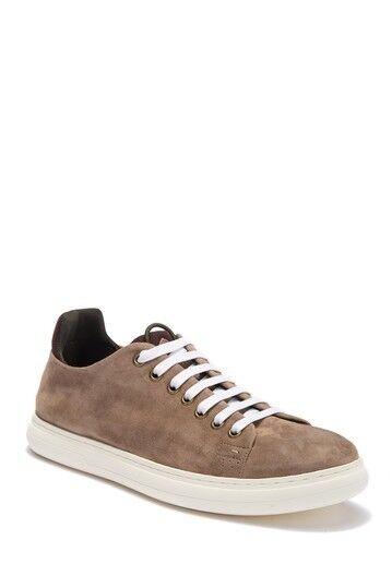 Donald Pliner Men's Pierce Suede Sneaker US 13M Tan Washed Suede MSRP