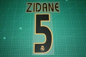 Flocage ZIDANE du REAL MADRID  patch football shirt .
