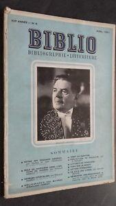 Rivista Biblio Edouard Herriot Avril 1951 N°4 ABE