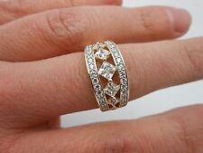 Gorgeous Princess Cut 14k Solid Yellow Gold Diamonique DQCZ Ring Size 10.5