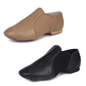 Genuine Leather Stretch Jazz shoes men