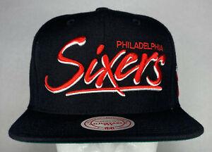 Mitchell-and-Ness-NBA-Philadelphia-76ers-MOP-Script-Snapback-Hat-Cap-New
