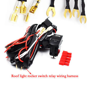 dc 12v wiring harness rocker switch led light bar utv polaris xp 900 image is loading dc 12v wiring harness rocker switch led light