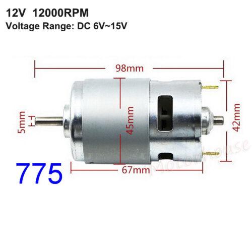 DC6V~24V 12V 18V High Speed Large Torque RS-775//795//895 Electric Motor 5mm Shaft