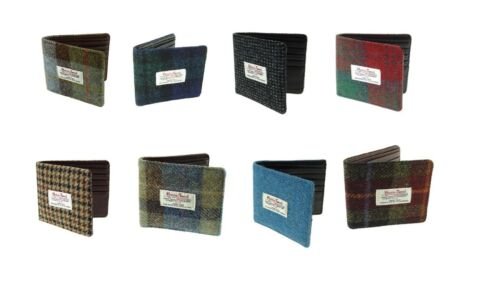 Harris Tweed Gents Card Wallet Available In 10 Colours LB2007