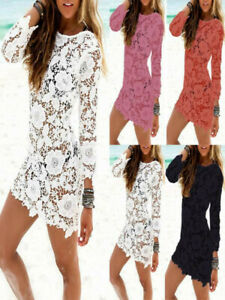 Sexy-Women-Lace-Crochet-Bathing-Suit-Bikini-Swimwear-Cover-Up-Beach-Dress-Skirt
