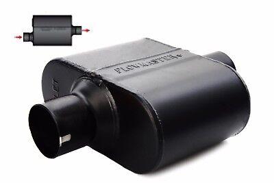 "Flowmaster 842516 Super 10 Muffler 2.5/""  Offset Inlet//Center Outlet 409S SS"