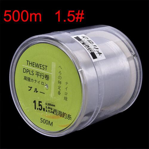 500M Fluorocarbon-Angelschnur 5-30LB Super Main Line klare FliegenfischenschFT