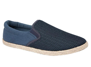 Urban Jacks Mens UK 10 EU 44 Navy Blue Toledo Espadrilles Summer Shoes Pumps