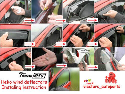 Viento desviadores de Nissan X-Trail 01 07 T30 5D 2.pc 24239-T para las puertas traseras Heko