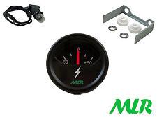 52MM BATTERIA ricarica / scaricamento Amperometro Misuratore 60 AMP AMPERE BLACK FACE mlr.aum