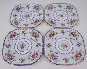 Set-of-4-x-Bread-Plates-6-1-8-034-Royal-Albert-Petit-Point-England-vintage