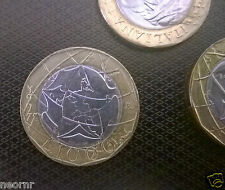 Moneta LIRE 1000 BIMETAL 1997 Italy-Versione confini errati Germania-Da rotolino