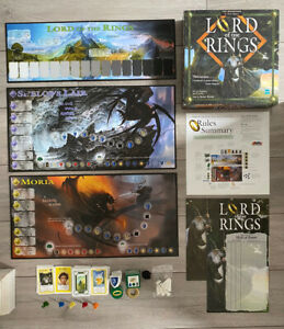 LORD-OF-THE-RINGS-BORD-GAME-LOTR-HASBRO-BY-Reiner-Knizia-John-Howe-100-COMPLETE