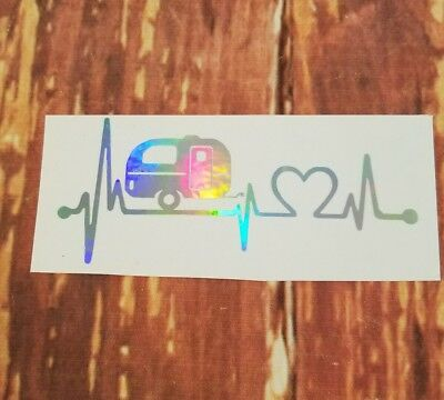 Holographic Nurse Heartbeat  Vinyl Window Car Decal Free next day shipping