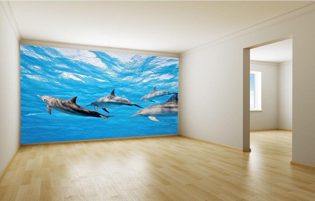 3D Delphin Fotografie 7 Tapete Wandgemälde Tapete Tapeten Bild Familie DE Summer