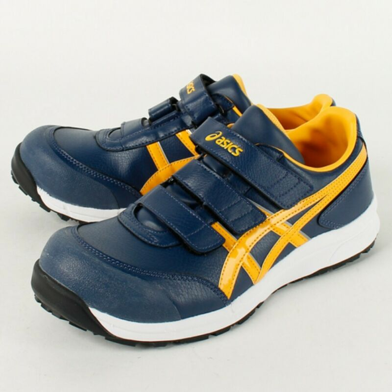 Asics Working Safety Work Shoes Win Job Fcp301 Wide Navy Yellow With Tracking
