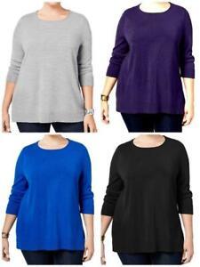 Karen-Scott-Women-039-s-Plus-Rolled-Neck-Pullover-3-4-Sleeve-Sweater-NWT-RV-44