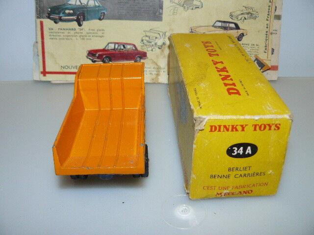 DINKY DINKY DINKY TOYS  ANCIEN  CAMION BERLIET BENNE CARRIERE  réf 34 A/580 3 ème VERSION | Boutique En Ligne  38c9f7