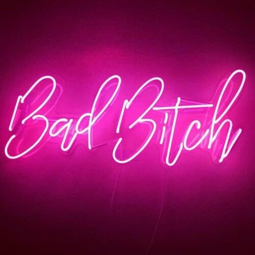 Bad Bitch Neon Sign Light Lamp Artwork Decor Party Gift With Dimmer