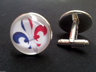 Bo/îte Cadeau Lys boutons de manchette plaqu/é or brillant