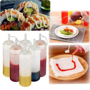 Bouteilles-squeeze-compression-cuisine-ketchup-huile-vinaigre-Distributeur-240ML