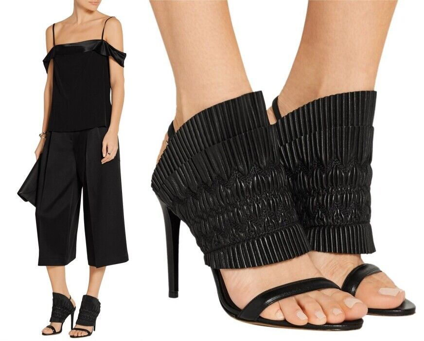Tabitha Simmons floucy smoked NAPPA zapatos negros SZ US 10   it 41  895