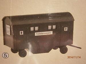 Faller-Pola-H0-Toilettenwagen-WC-Wagen-Bausatz-NEU