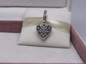 3e856f885 New w/ Box Pandora Heart of Winter Charm 796372CZ You Melt My Heart ...