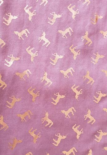 Unicorn Print Scarf Rose Gold Glitter Soft Beautiful Fashion GlamLondon Scarves