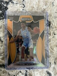2019-20 Panini Prizm Draft Picks Coby White Neon Orange /149 Chicago Bulls RC